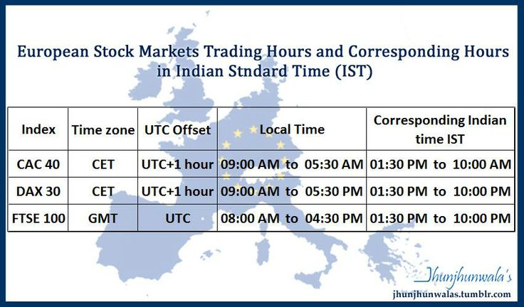 European Stock Market Trade Timing local and Indian Standard Time #Cac40 – Benchmark Index of #France #Paris Bourse #Euronext #Dax30 - Benchmark Index of Germany #Frankfurt Stock Exchange #FTSE100 - Benchmark Index of United Kingdom #London Stock Exchange #EuropeanStockMarket #EuropeanTradeTiming #EuroTradelocalTiming