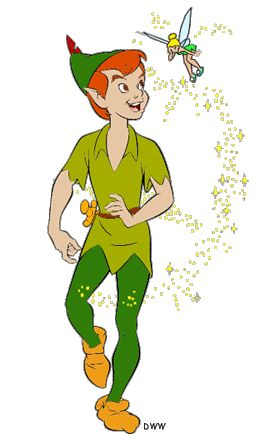 Peter Pan and Tinkerbell Clipart - Disney Clipart Galore