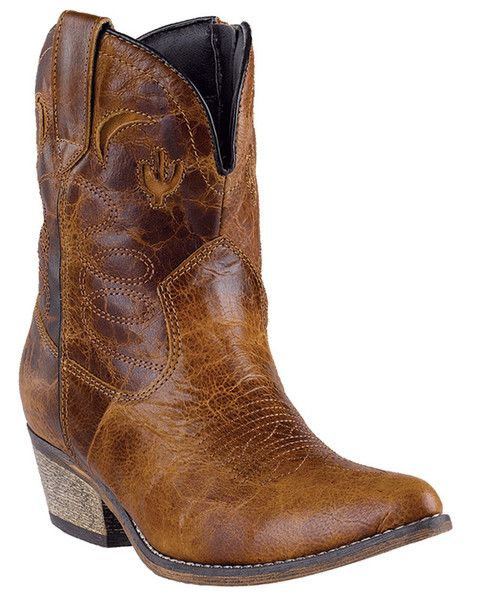 """These fashionable leather womens cowboy boots from Dingo feature a 7"""" side zip shaft, j toe , and cowboy heel. From traditional western, to motorcycle, to moder"""