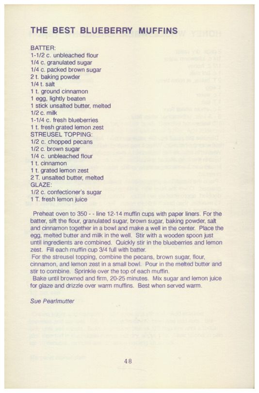 Phoenix Books Cooks - A Community Cookbook, 1990 - The Best Blueberry Muffins http://www.amazon.com/gp/product/B01MXIU98X/ref=cm_sw_r_tw_myi?m=A3FJDCC1SFO8CE