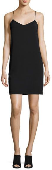 Vince V-Neck Camisole Dress, Black