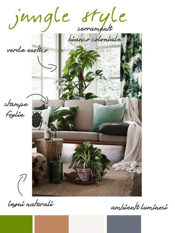 Stile giugla nel tuo soggiorno. Alcune idee per ricrearlo con facilità.