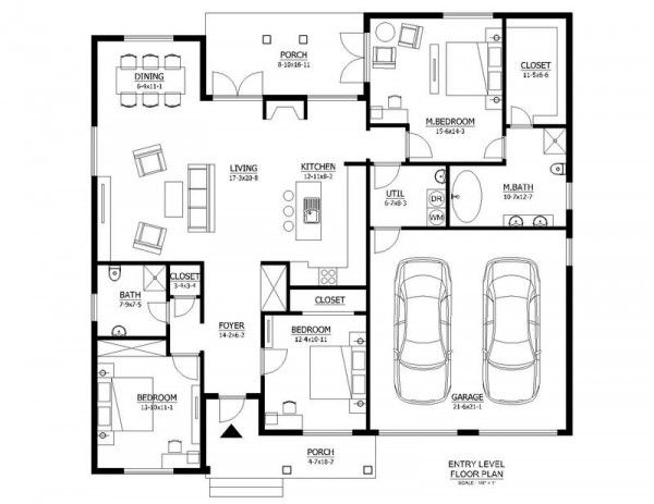 This Country Design Floor Plan Is 1706 Sq Ft And Has 3 Bedrooms And Has  Bathrooms.
