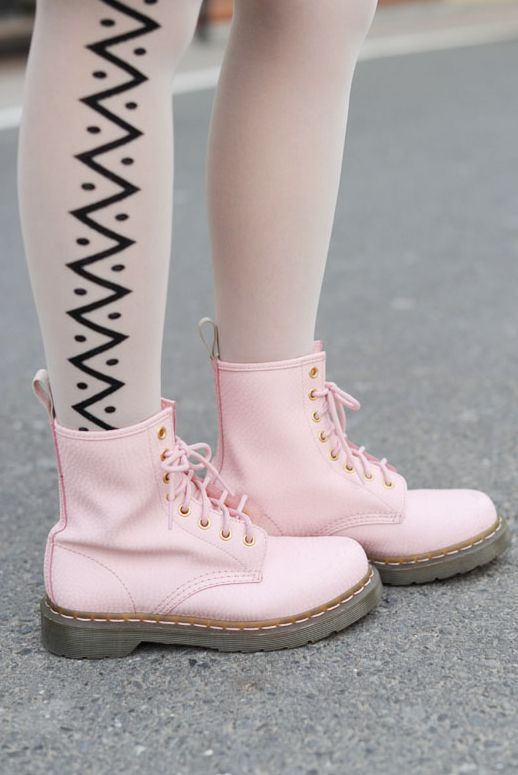 Cute Pink Doc Martins!!! Just to be different - I've always wanted a pair, but haven't yet dared to go there.