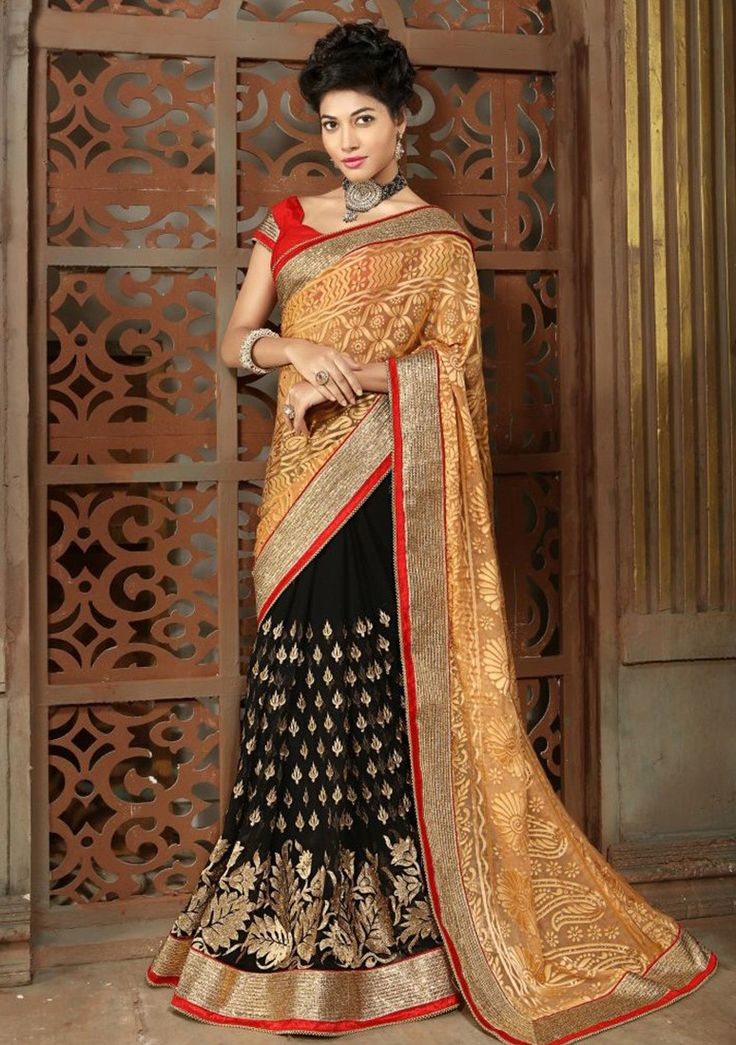 Vogue and pattern will be on the peak of your magnificence once you attire this Black Georgette Saree. The ethnic Lace & Butta Work work at the clothing adds a sign of attractiveness statement with your look.
