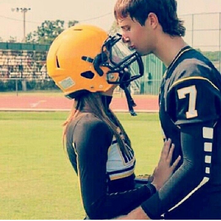 So cute. Would love to take this! If I were a cheerleader and he was a football player.