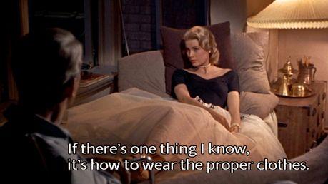 Si hay algo que sé, Es vestir la ropa adecuada.