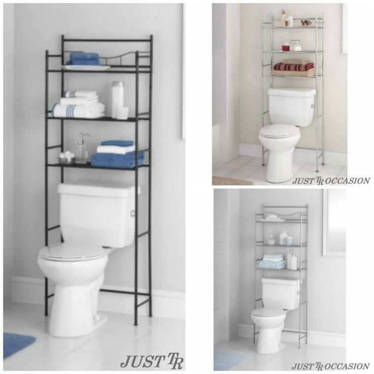 Bathroom Storage Shelf Organizer Over the Toilet 3 Tier Rack Towel Bronze Metal #Mainstay