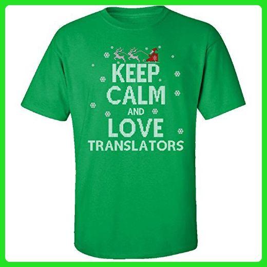 Keep Calm And Love Translators Jobs Ugly Christmas Sweater - Adult Shirt - Holiday and seasonal shirts (*Amazon Partner-Link)