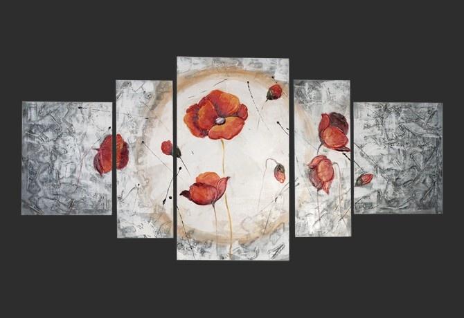 Quadro Moderno 'Tulipano Rosso'