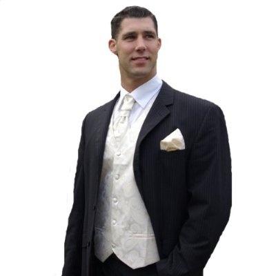 Champagne Tuxedo Vest Sets , Mens Vests , Wedding Vests for Men