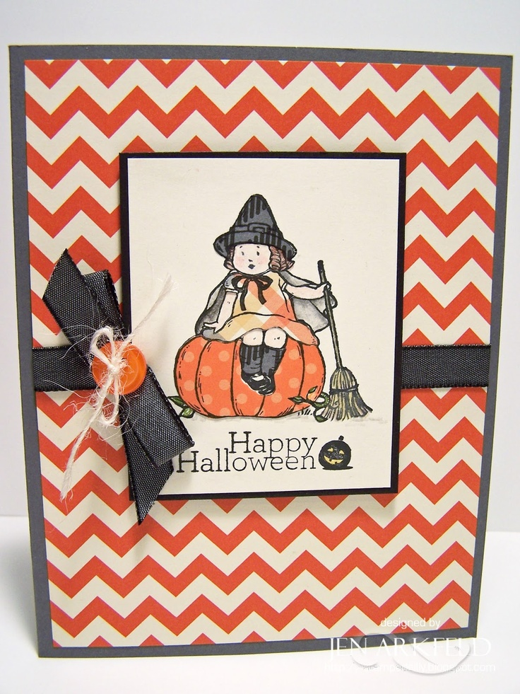 Stamped Silly Paper Pieced Halloween Card