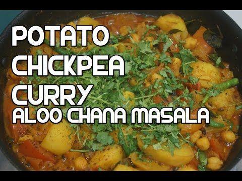 Potato Chickpea Curry Recipe - Aloo Chana Masala Indian Vegan