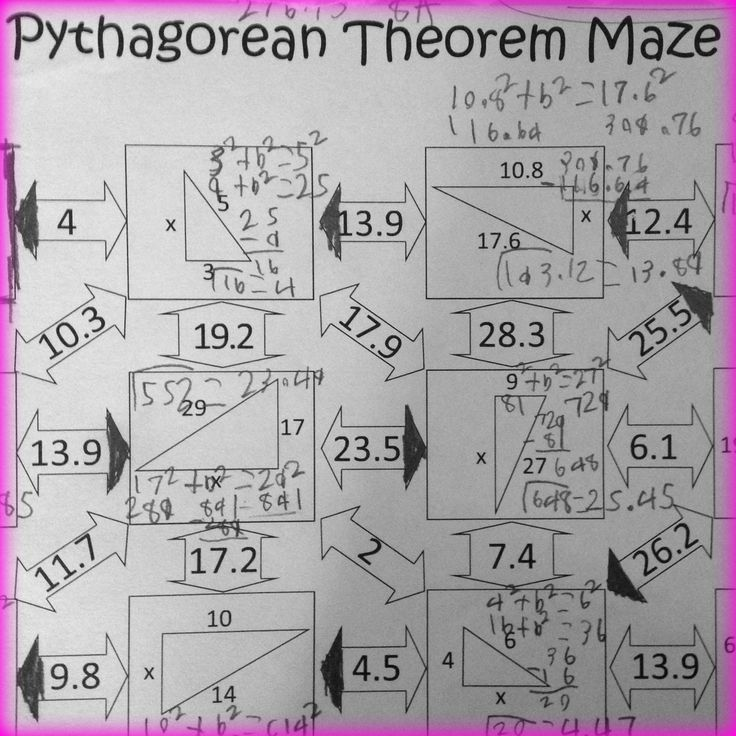 507 best Math Tutoring - 10th Grade (Geometry) images on Pinterest - pythagorean theorem worksheet