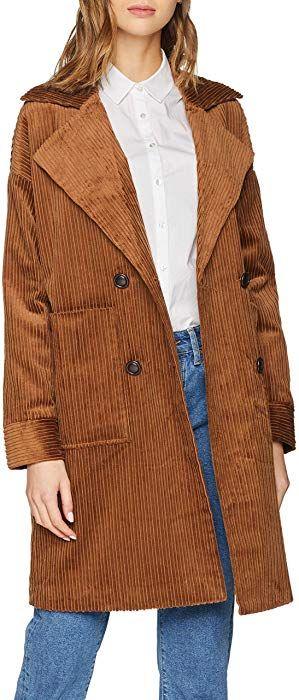 bcd821755977 SELECTED FEMME Damen Mantel SLFSAVANNA Jacket W, Braun Thrush, 42  Amazon.de
