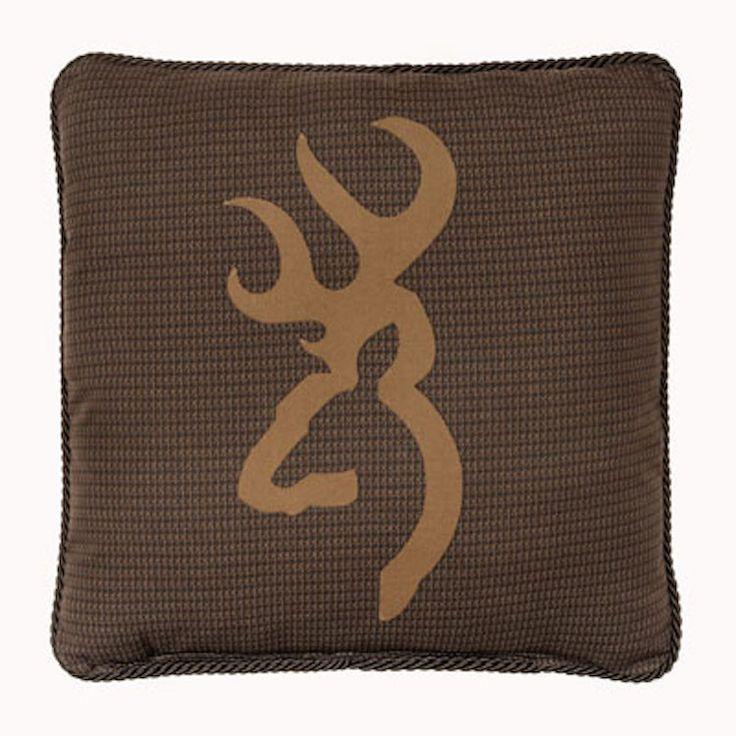 Browning Oak Tree Brown Throw Pillow