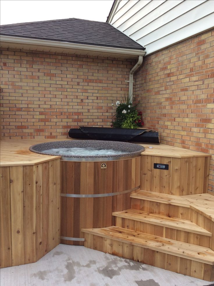 Pin by canadian hot tubs inc cedar hot tubs on cedar hot for How much does composite decking weigh