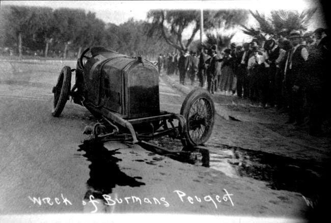 1916 Bob Burman Corona California Fatal Wreck  Indy Cars 19111950s  Corona california Dirt