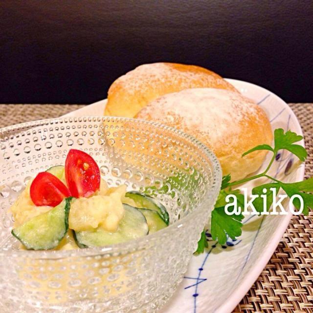今日使ったパンは、アンデルセンのハイジの白パンです 間に何かサンドして食べると美味しいパンです 梅酢味噌マヨで作ったポテトサラダを挟んでいただこうかな(๑^︶^๑)・.。:*・♬* - 113件のもぐもぐ - 梅酢味噌マヨでポテトサラダ by sumity