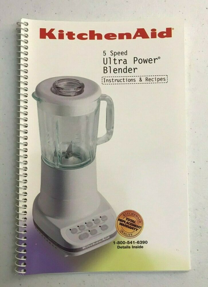 Kitchenaid Blender 5 Speed Ultra Power Owners Manual Instructions