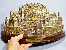 $200    JERUSALEM CITYSCAPE HUGE SILVER & GOLD SOUVENIR BUILDING RARE PRESENTATION PIECE