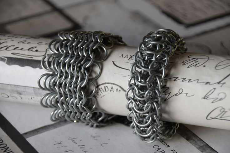 European 8 in 1 chainmail bracelet and dragonsback chainmail bracelet. My selfmade chainmail is also on facebook @ Ivy's Scale Mail and on instagram @ ivys_scale_mail