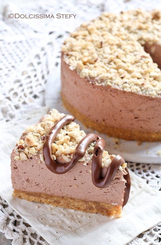 Cheesecake alla Nutella e Nocciole