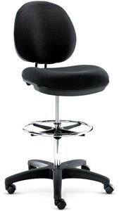 Alera IN46FA10B Interval Series Swivel Stool, Black Fabric