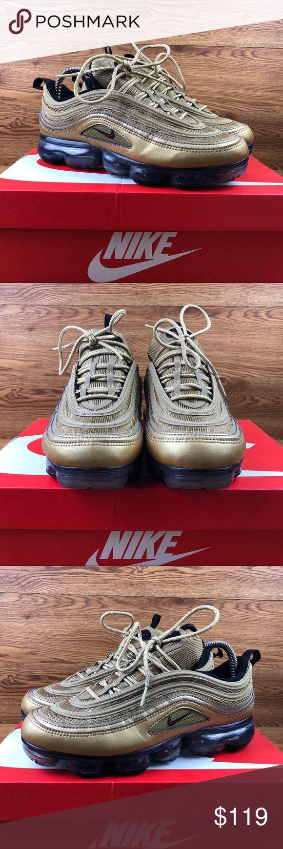 Nike Air Vapormax 97 Metallic Gold Sneakers Worn twice. Smoke free. Box included…