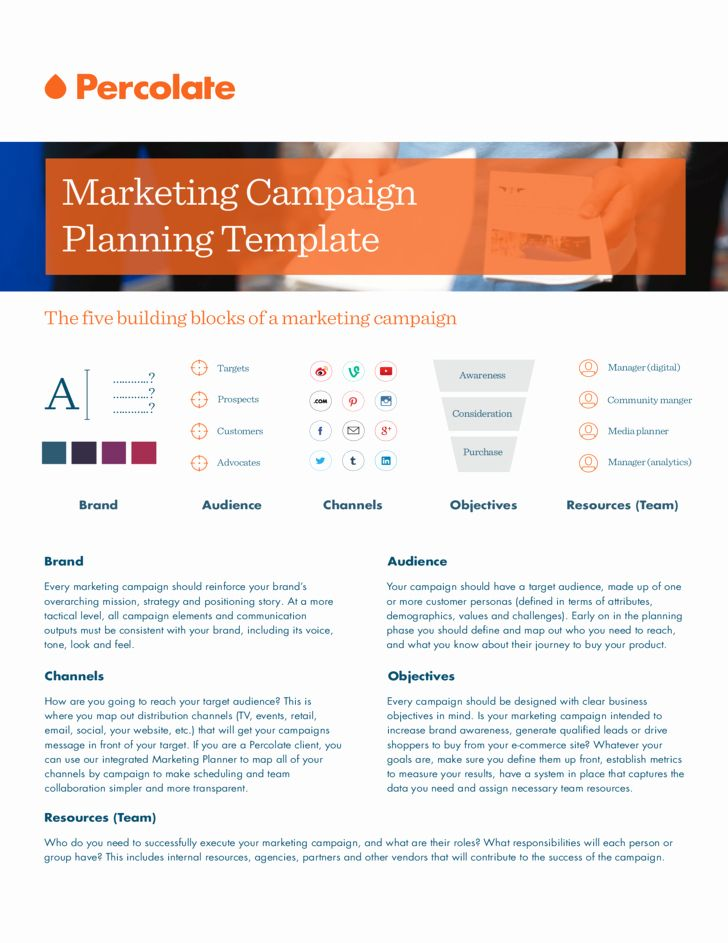 Advertising Campaign Template Best Of Marketing Campaign Template Digital Marketing Strategy Template Marketing Strategy Template Campaign Planning