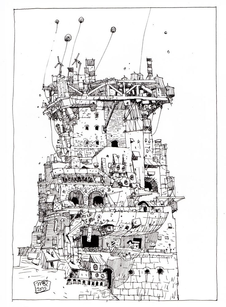 19 best How to Draw Buildings and Structures images on