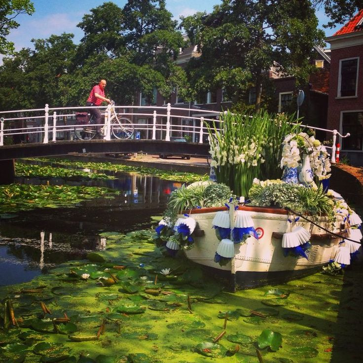 Proudly Presenting.. Delft! Floating Flower Parade boat in collaboration with the city of Delft.