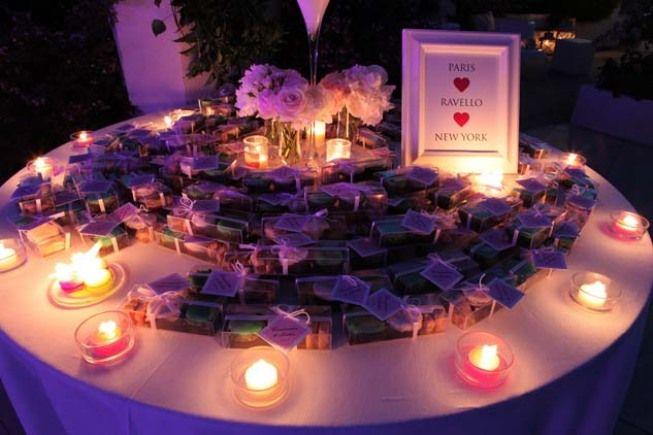 Table with wedding favours at Ravello wedding http://www.weddingsontheamalficoast.com/ravello-wedding-jackie-constantin-sinagra.html