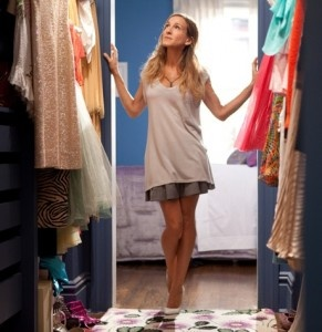 Carrie-Bradshaw-love my money exactly where I can see it, hanging in my closet!