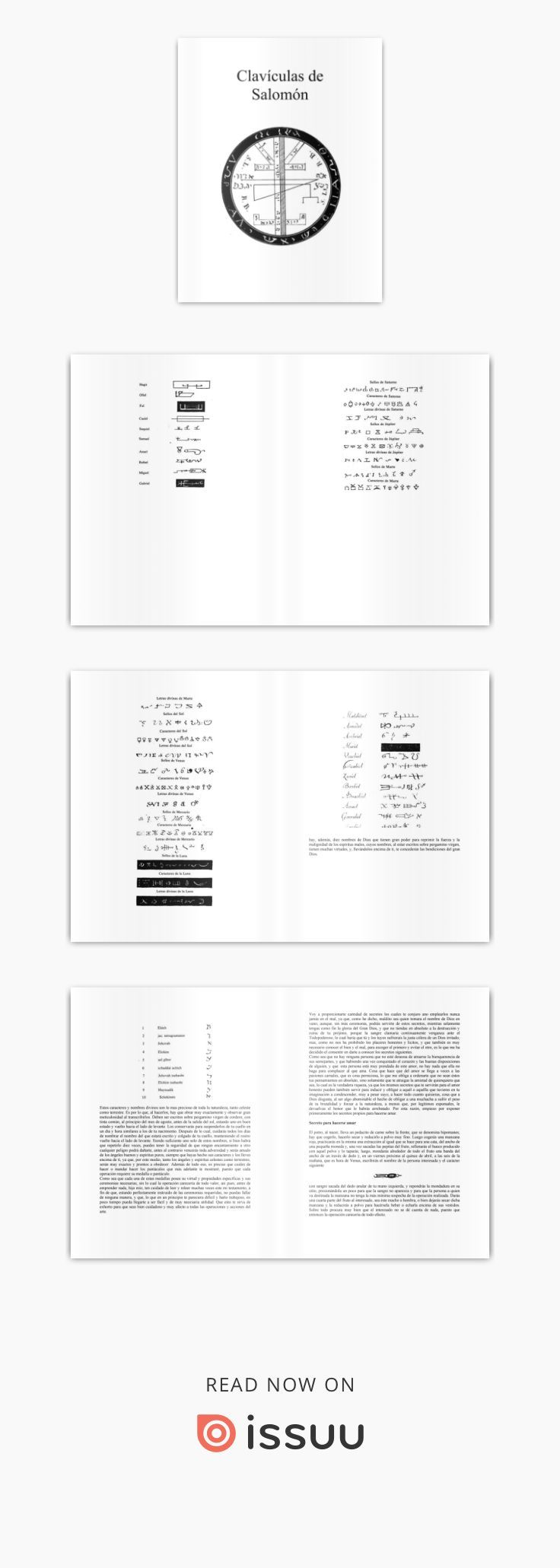 Lemegeton Clavicula Salomonis O Lemegeton Clavicula Salomonis (em espanhol, Lesser Chave de Salomão), também conhecido como Lemegeton, é um grimoire anónimo do século XVII, e um dos livros mais populares de demonologia cristã. Embora as primeiras referências conhecidas para o livro são do século XVII, muitos dos seus textos que datam do século XVI (como o daemonum Pseudomonarchia de Johann Weyer) e final da Idade Média (parte do material da primeira seção, sobre a invocação de demônios é…