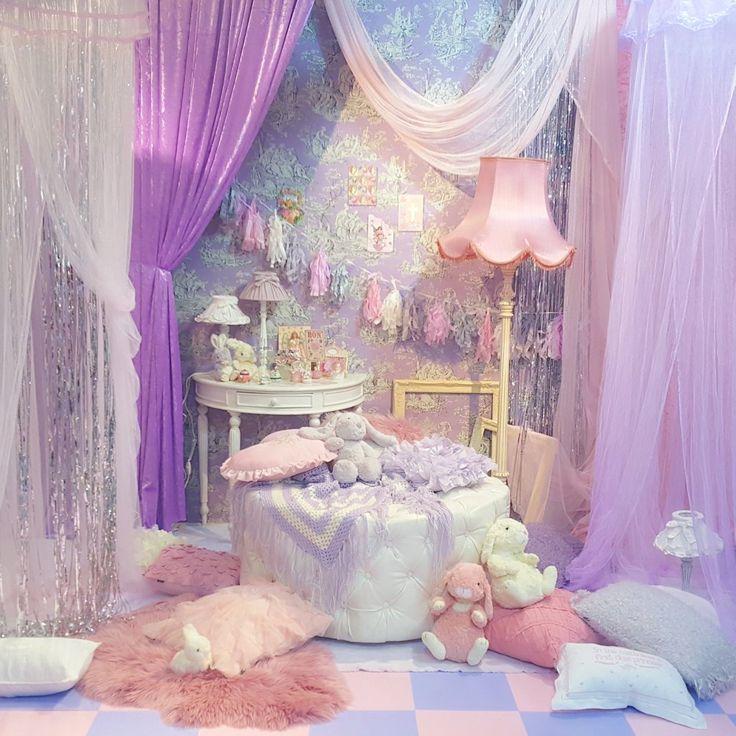On Bedrooms Kawaii Room Pastel Bedroom Kawaii