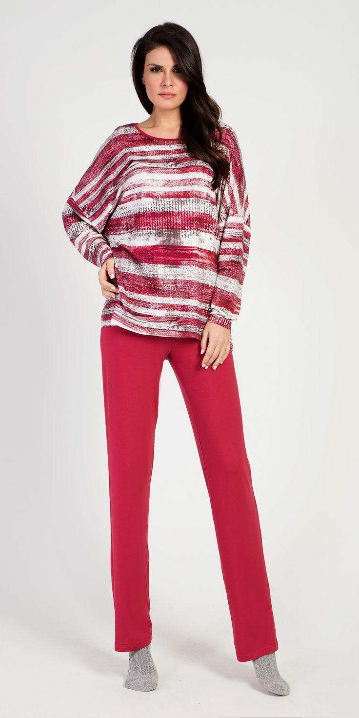Loungewear Set 95% Viscose 5% Elastane | Loungewear| Vamp!