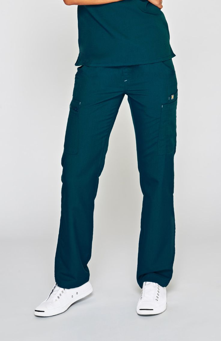 women's torbeck cargo scrub pants - caribbean blue