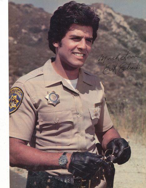 Erik Estrada-people used to tell my husband he looked like him! Now he hears Wayne Newton! lol!