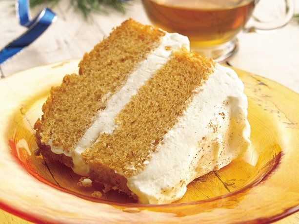 Pumpkin angel Food Cake with Ginger-Cream Filling from Betty Crocker! Yum!