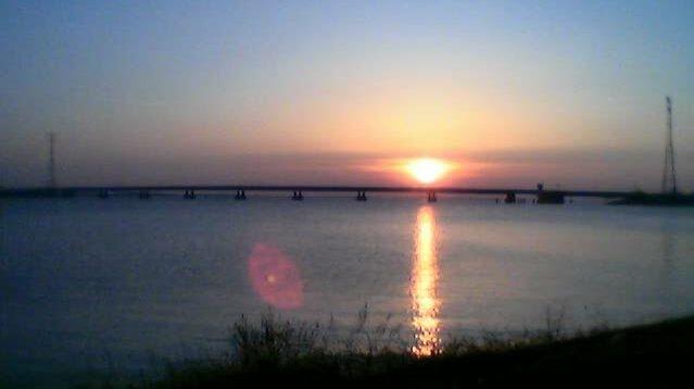 Haringvlietbrug in de zon 2003