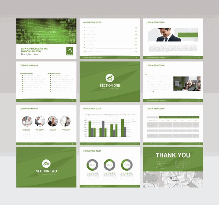 Powerpoint Template for Software Company by Designerm9