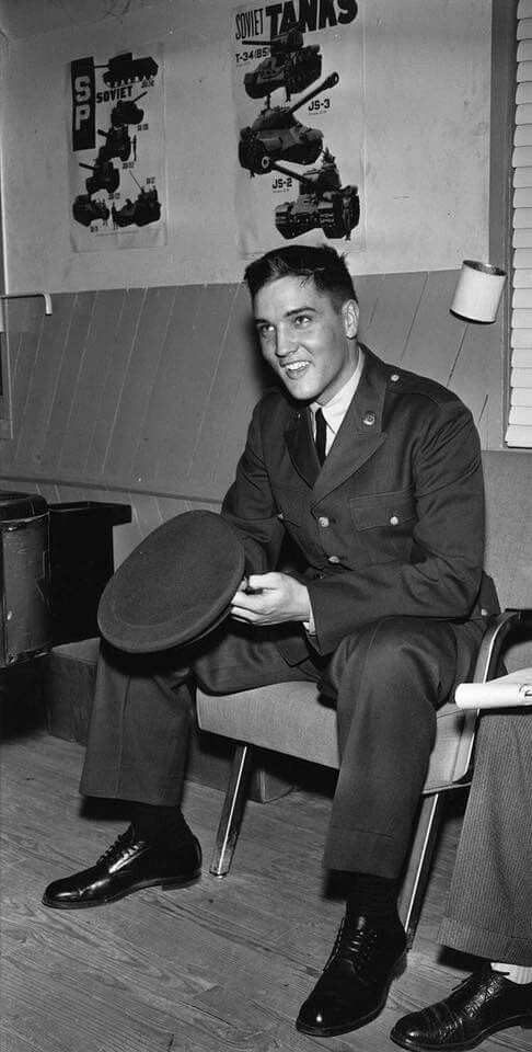 Great Candid: Elvis in U.S. Army