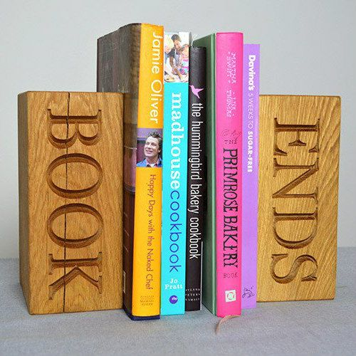 Personalised Oak Bookends