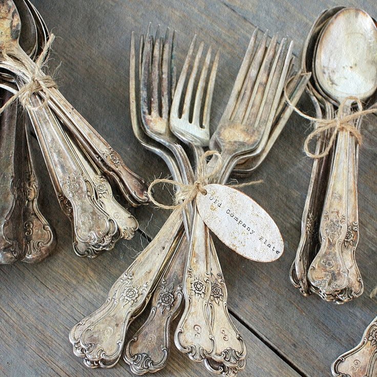 Add vintage flatware for that extra touch. Its all in the details.   @Carrie Mcknelly Mcknelly Kwinter Kween & Patina