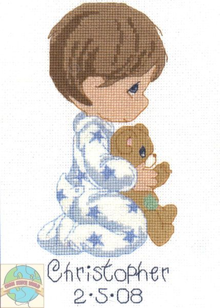 Precious Moments - Jesus Loves Me Boy - Cross Stitch World - (one of my favourites)