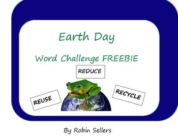 {FREE} Earth Day Activity: This packet contains the resources to play three word challenge games.