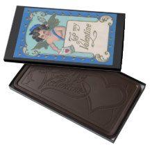 Vintage Cupid Mailman Romantic Chocolate Delivery