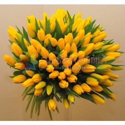 101 tulips bouquet / buchet 101 lalele