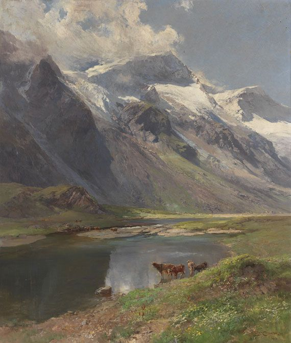Compton, Edward Theodore  Bei Kaprun: Mooserbodental mit Blick auf den Karlinger Gletscher, 1916.